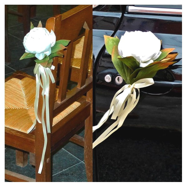 CEREMONY PEW BOWS DECORATIONS creative flower weddings